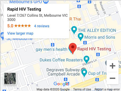 Melbourne Rapid HIV Testing Map